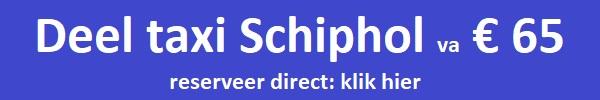 Deel taxi Schiphol